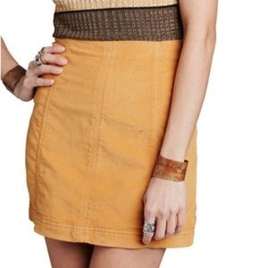 Free People Modern Femme Mistard Yellow Mini Skirt